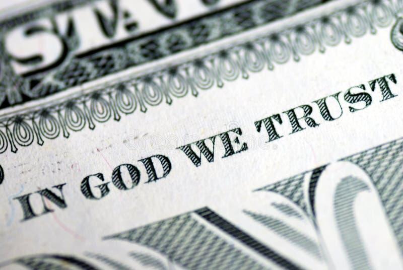No deus nós confiamos foto de stock royalty free