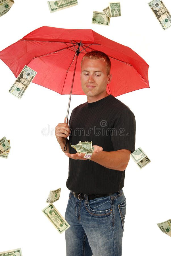 No dinheiro fotografia de stock