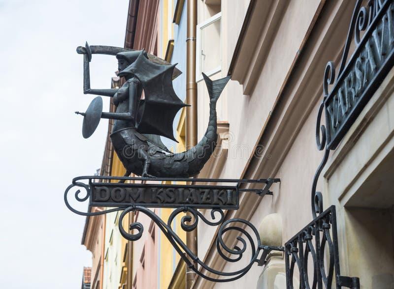 No distrito histórico do olhar fixo velho Miasto da cidade em Varsóvia, P fotos de stock royalty free