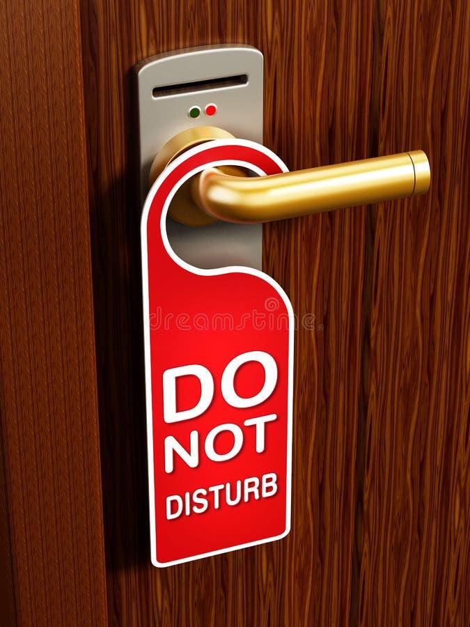No disturbe la muestra en la puerta ilustración del vector