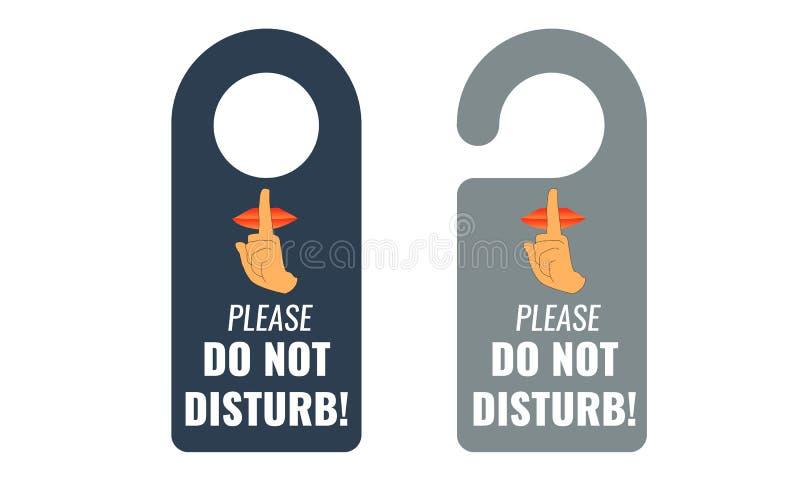 No disturbe Suspensión de puerta Guarde la muestra reservada Vector ilustración del vector