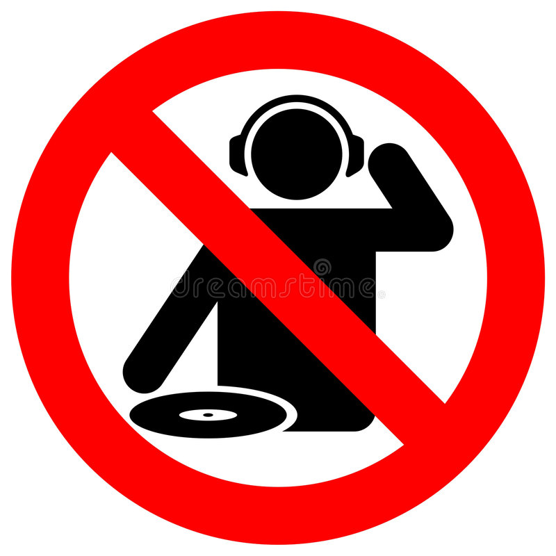 No dj zone warning sign stock vector illustration of for Zona 5 mobilia no club download