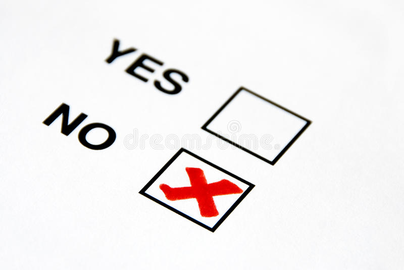 No. do voto fotos de stock