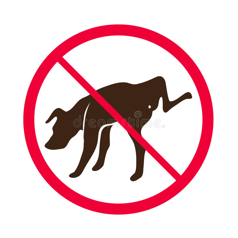 no dog peeing vector no dog pee sign logo stock