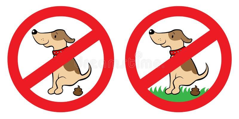 No Dog Poop Sign Royalty Free Stock Photos