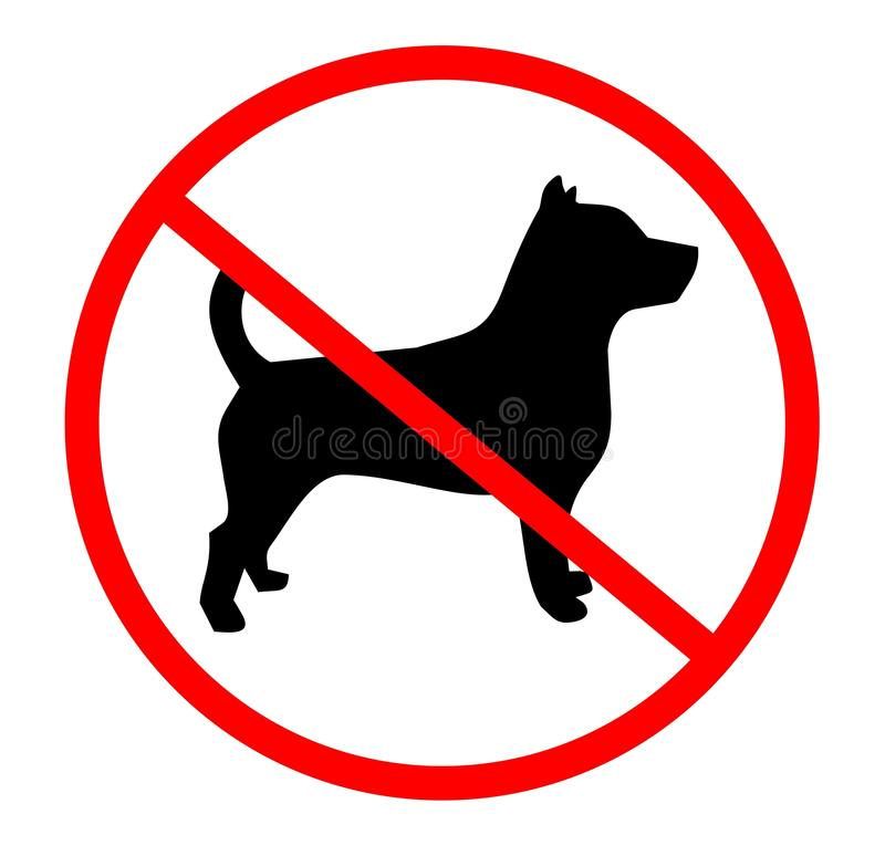 Download No dogs stock vector. Image of animal, prohibition, hold - 16847211