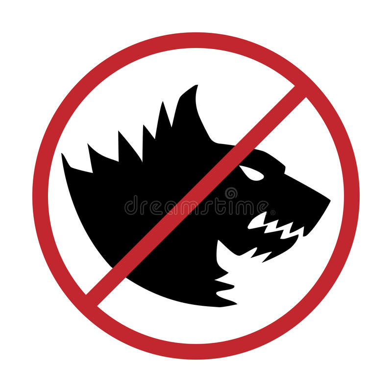 No dogs allowed. Dog prohibition sign,. No dogs allowed. Dog prohibition sign vector illustration stock illustration
