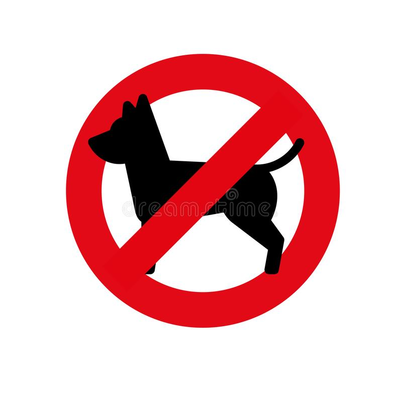 No dogs allowed. Dog prohibition sign, vector illustration. No dogs allowed. Dog prohibition sign, vector illustration esp10 royalty free illustration