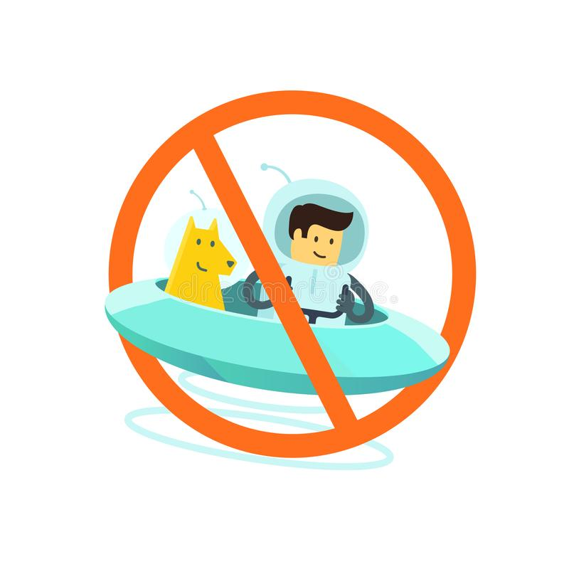 No dogs allowed. Dog walking is prohibited. Sign of the ban in the park. With a dog is impossible. No entry allowed. Vector illustration stock illustration