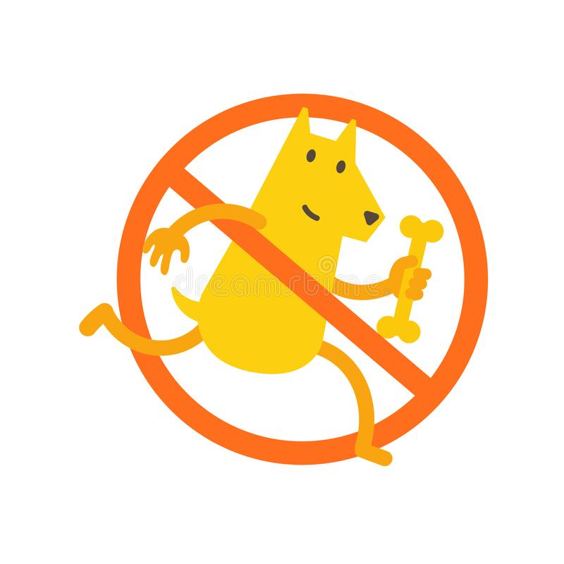 No dogs allowed. Dog walking is prohibited. Sign of the ban in the park. Vector illustration vector illustration