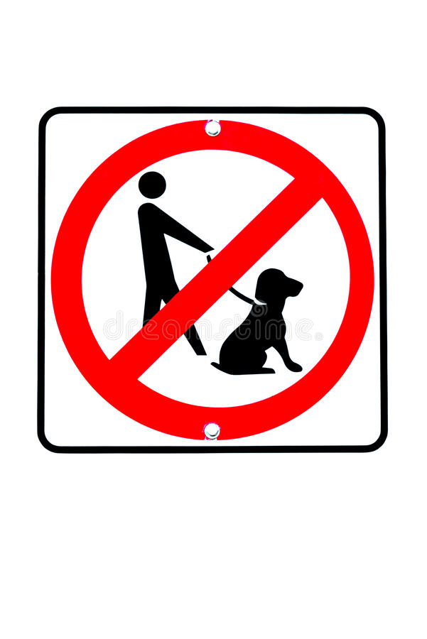 No dogs allowed sign. Sign with graphic no dogs allowed royalty free illustration