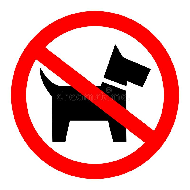 No dogs allowed sign stock illustration