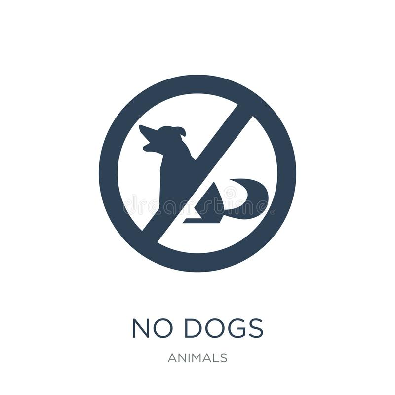 no dogs icon in trendy design style. no dogs icon isolated on white background. no dogs vector icon simple and modern flat symbol royalty free illustration