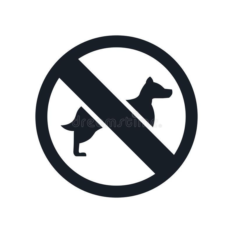 No Dogs icon vector sign and symbol isolated on white background, No Dogs logo concept vector illustration