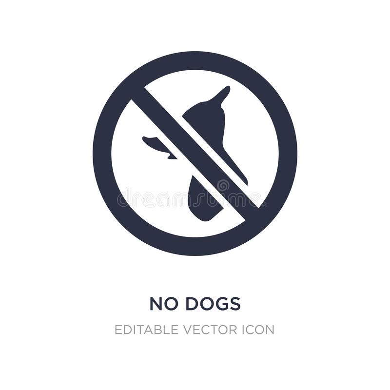 no dogs icon on white background. Simple element illustration from Animals concept vector illustration
