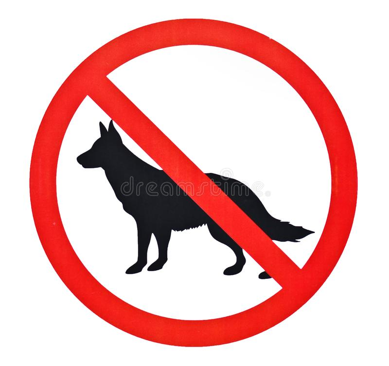 Free No Dogs Sign Royalty Free Stock Photo - 151740495