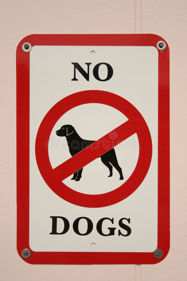 No dogs sign vector illustration