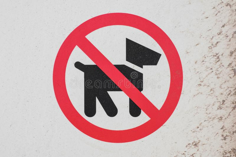 No dogs sign - dogs not allowed symbol, pictogram royalty free stock images