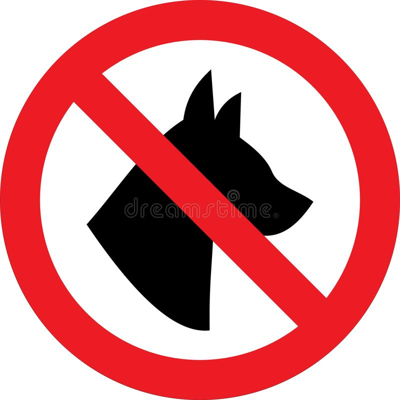 No dogs sign. No dogs allowed sign vector illustration