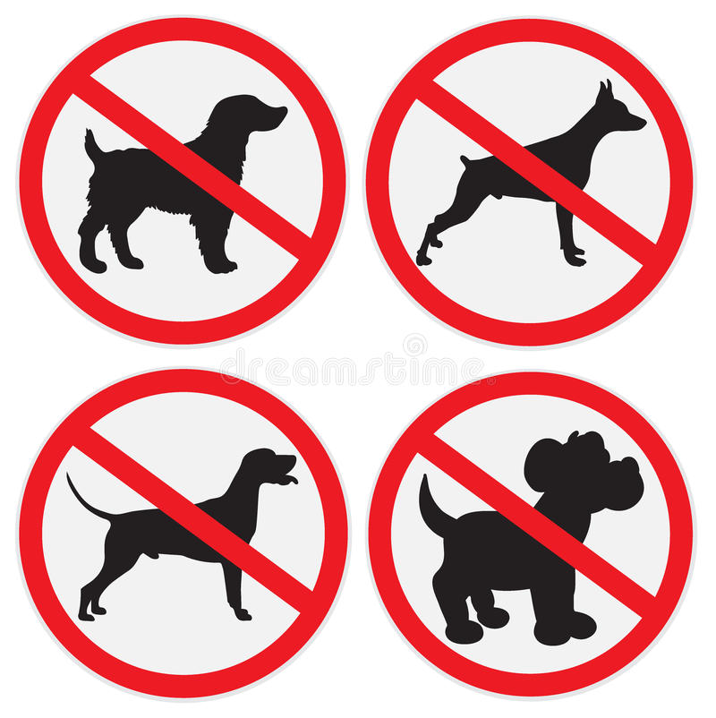 No dogs sign. Vector illustration of no dogs allowed sign royalty free illustration