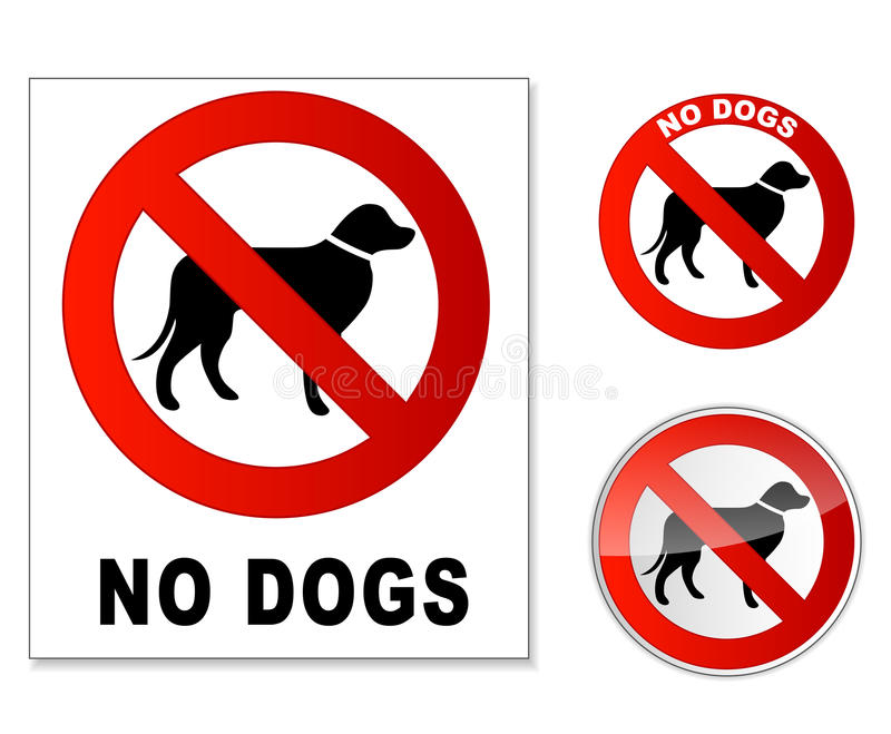No dogs royalty free illustration