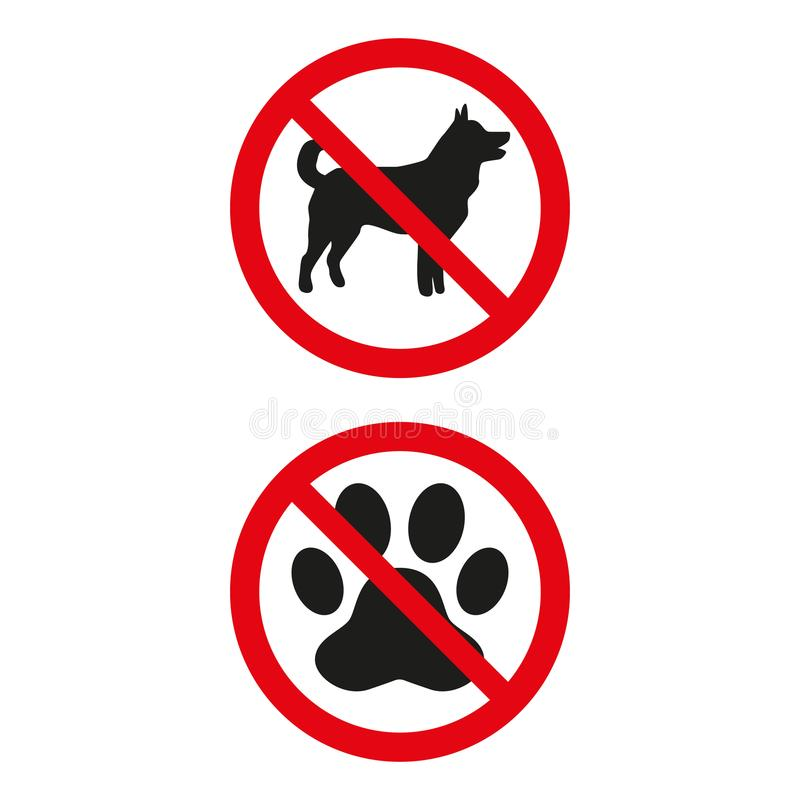 No dogs sign on white background. vector illustration