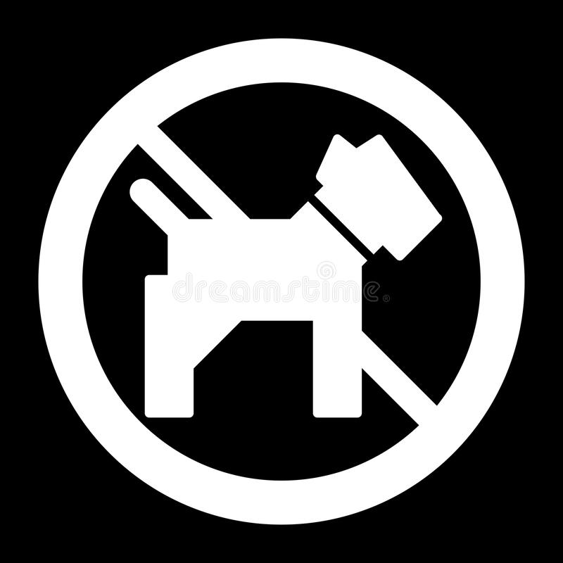 No dogs simple vector icon. Black and white illustration of dog and forbidden sign. Solid linear pet icon. Eps 10 vector illustration