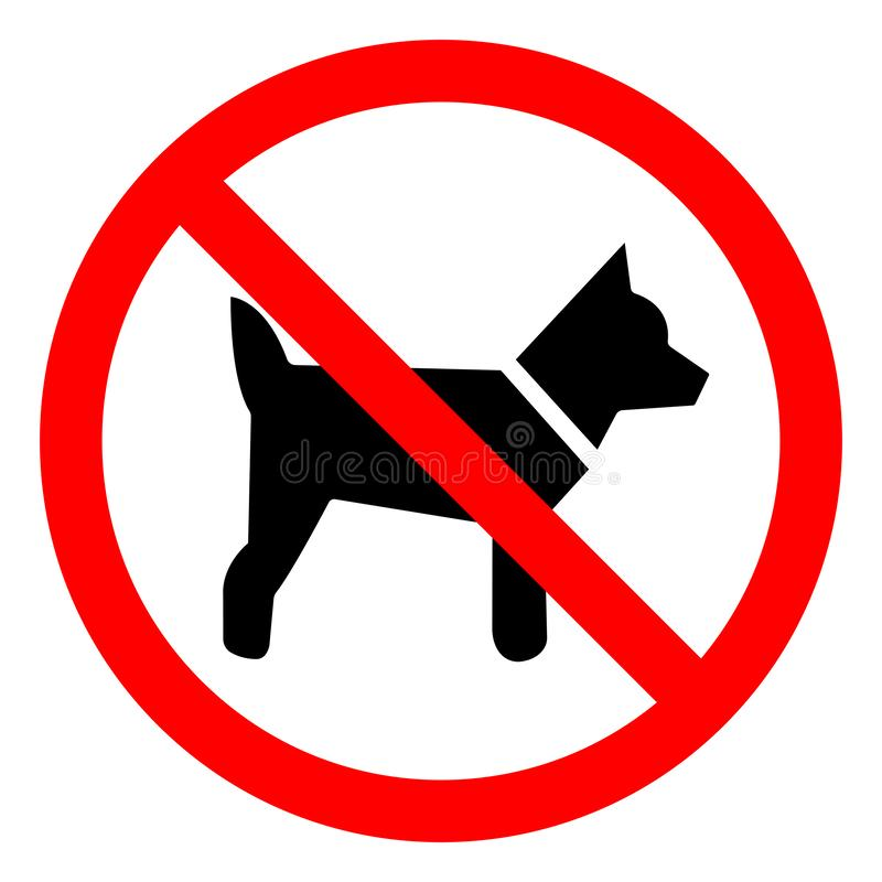 No Dogs Symbol Sign, Vector Illustration, Isolate On White Background Label .EPS10 stock illustration