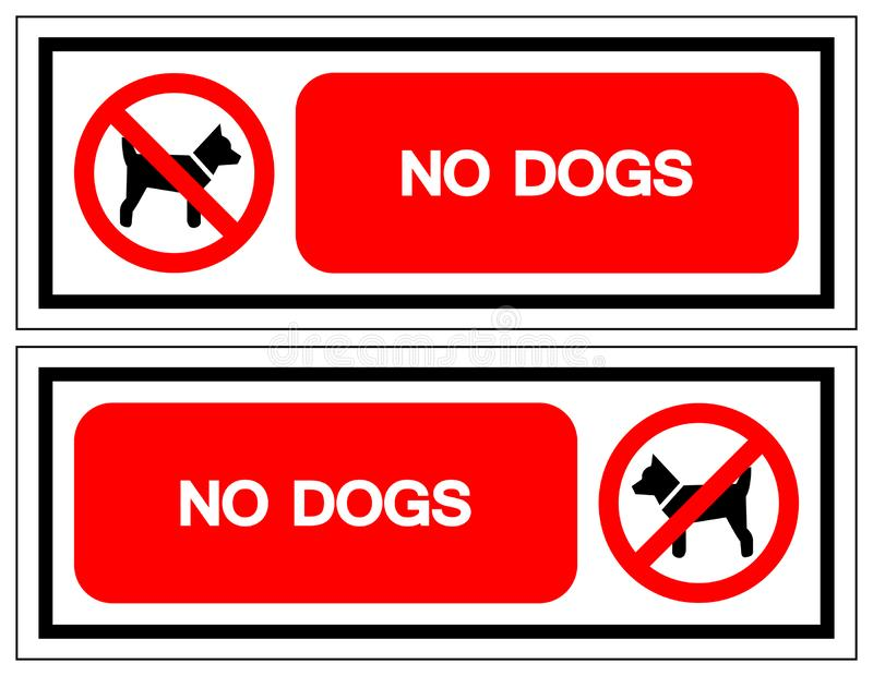 No Dogs Symbol Sign, Vector Illustration, Isolate On White Background Label .EPS10 royalty free illustration