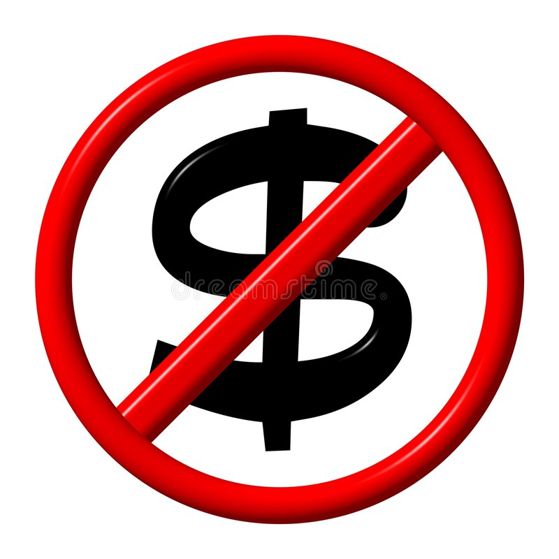No dollar stock illustration