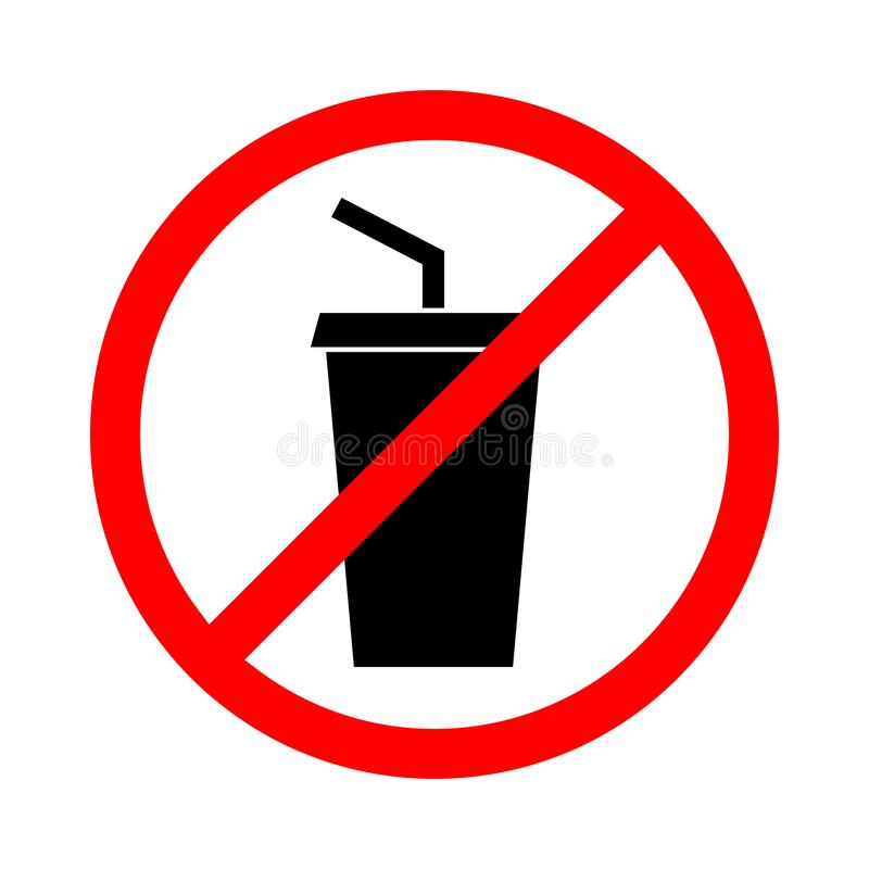 Free No Drink Sign. Vector Illustration. Stock Image - 126794081