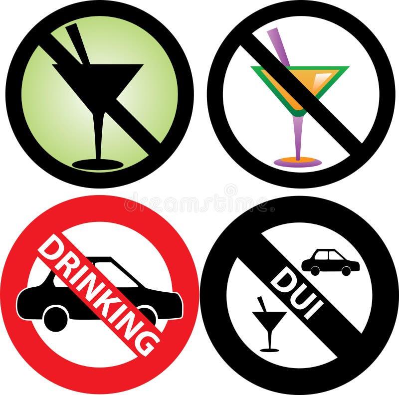 No Drinking Sign 2 vector illustration