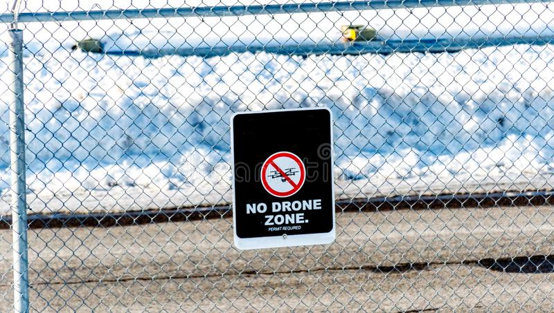 No drone zone in Montreal royalty free stock photos