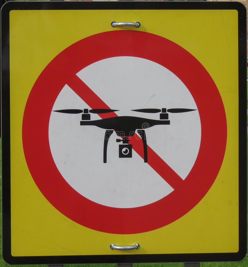 No drones sign. Regulatory signs, no drones with camera traffic sign stock photos