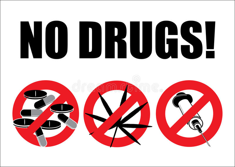 Download No Drugs With Ai Filer (with Ai File) Stock Photography - Image: 12561522