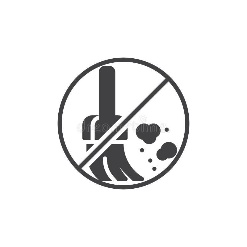 No dust prohibition vector icon stock illustration
