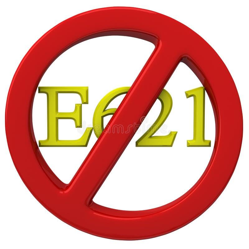 No E621 sign stock illustration