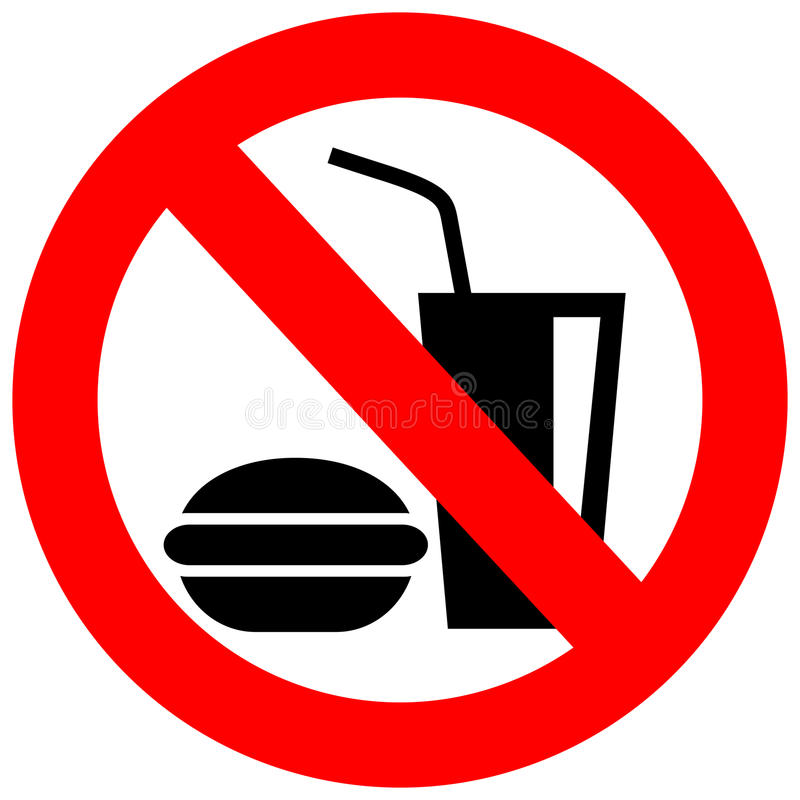 Free No Eating Vector Sign Royalty Free Stock Image - 29001406