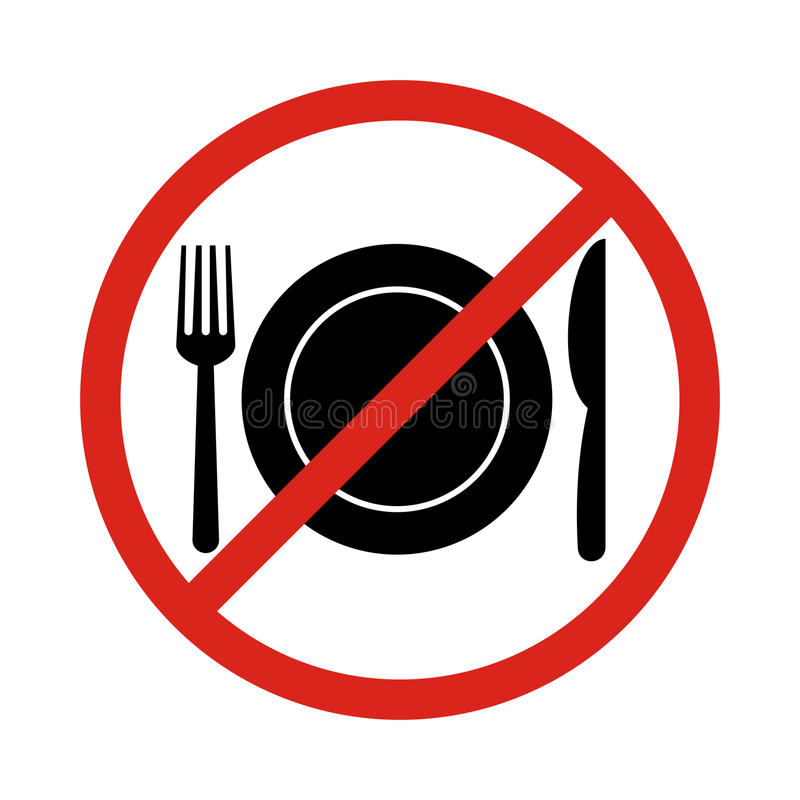 no eating vector sign no food or drink allowed stock vector rh dreamstime com no eating clipart no fast food clipart