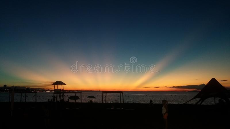 No edited Picture of a sunset in Paraguay stock photo