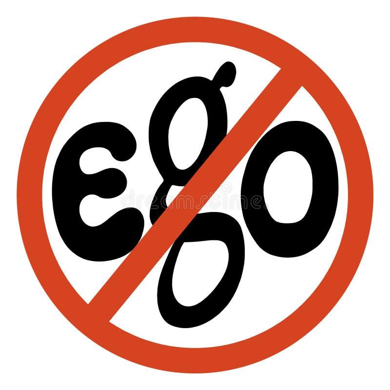 Download No ego sign stock illustration. Image of warning, road - 89093733