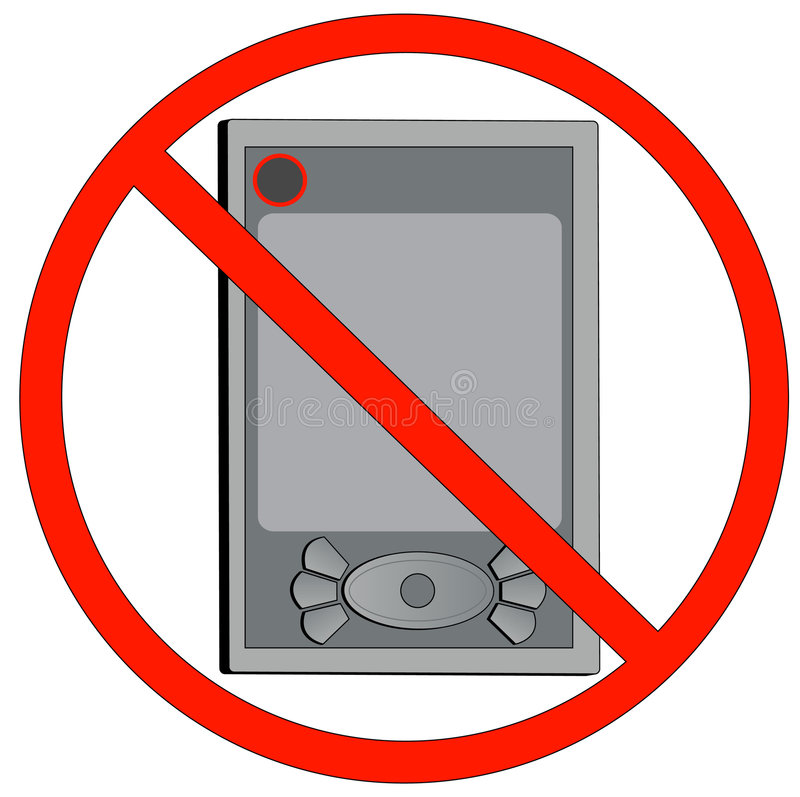 Download No Electronic Devices Allowed Stock Vector - Image: 4672086