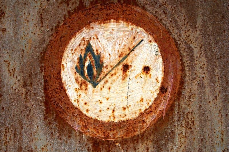 No encienda el fuego foto de archivo libre de regalías