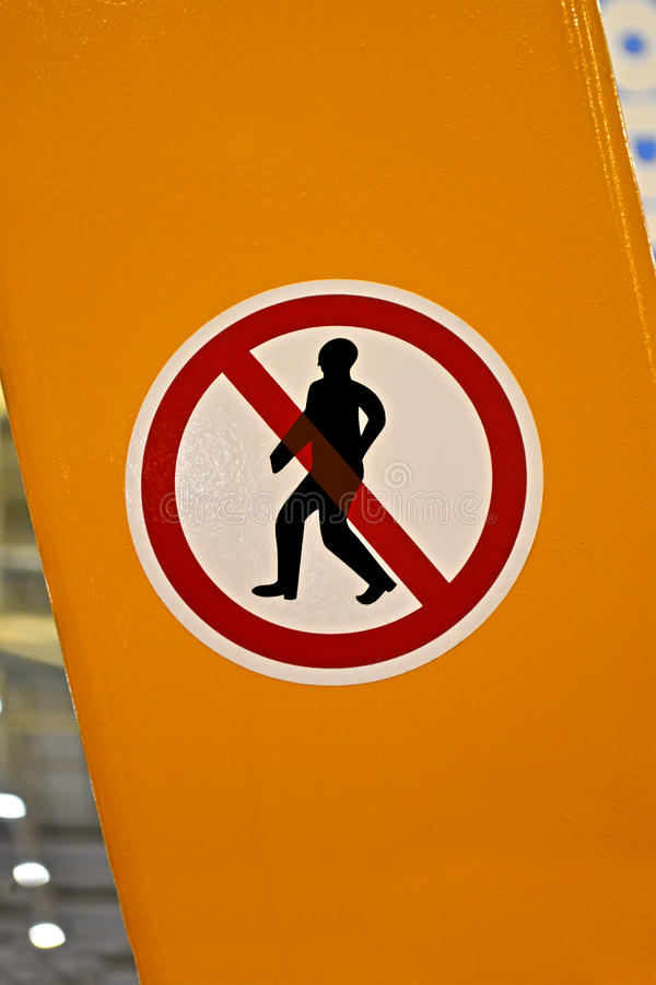 Download No Entrance Red Sign With Man Silhouette, Stock Image - Image: 27755199