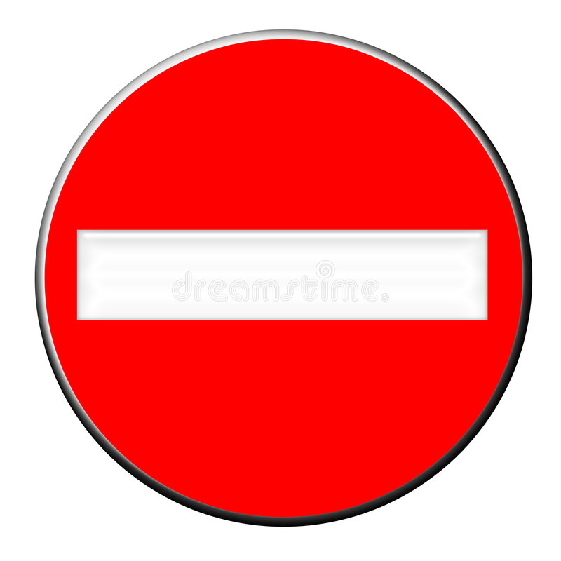 No Entry. Stop here no entry please vector illustration