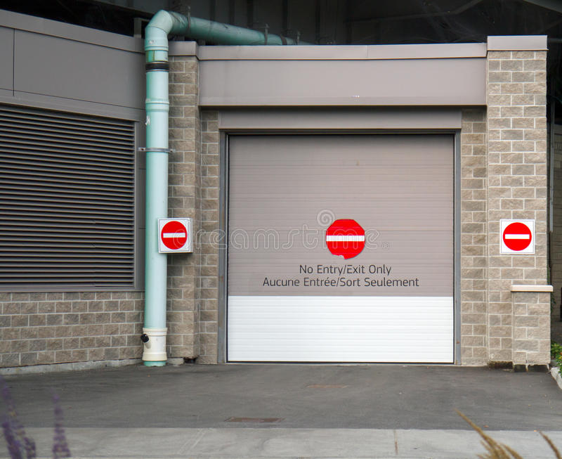 Download No Entry Exit Only stock image. Image of danger, concrete - 28259391