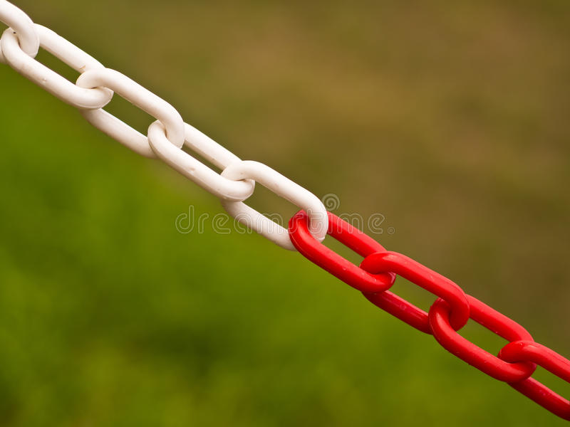 Red and White Chain Barrier - Private Property royalty free stock photography