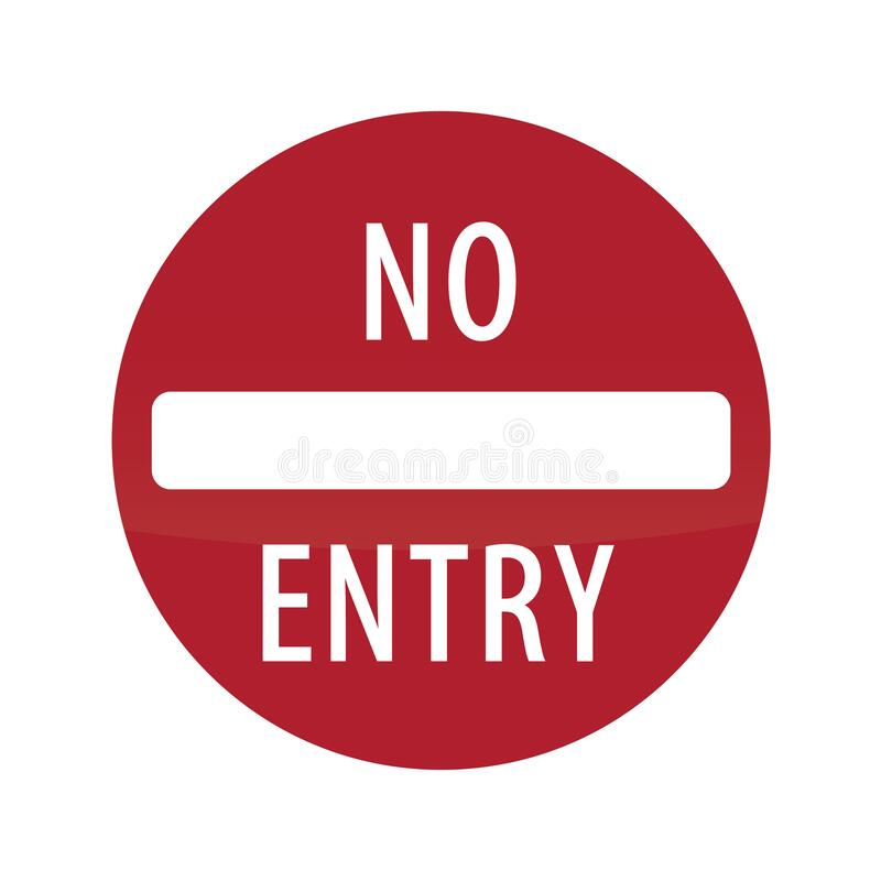Free No Entry Road Sign. Vector Illustration Decorative Design Stock Photo - 186166920