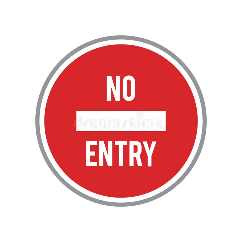 Free No Entry Road Sign. Vector Illustration Decorative Design Stock Photography - 187122482