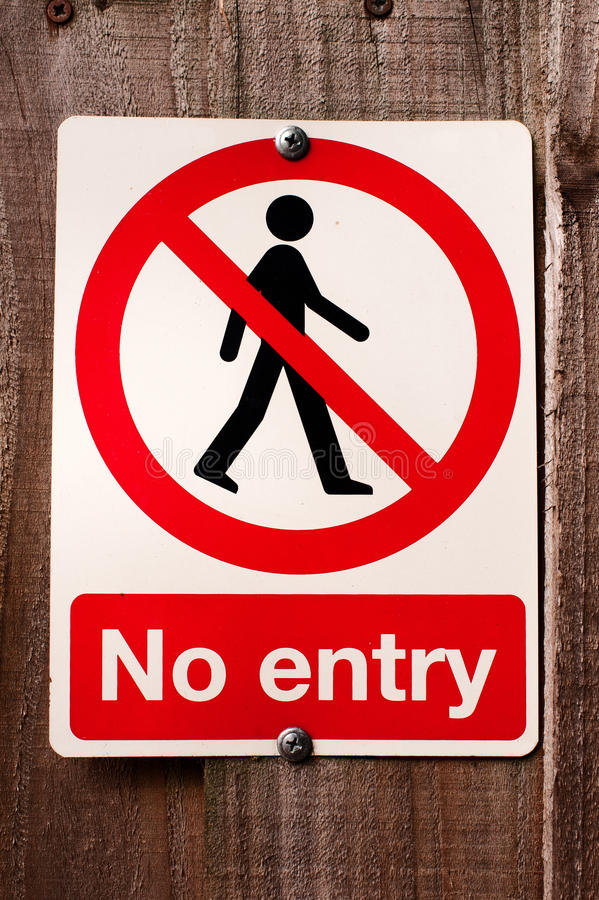 Free No Entry Sign Royalty Free Stock Photography - 26632597